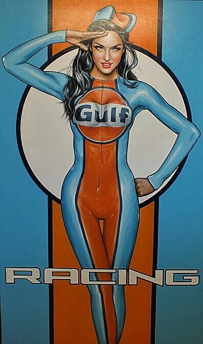 Gulf Oil was synonymous with auto racing, and famously sponsored the John Wyer Automotive team in the 1960s and early '70s. The signature light blue and orange color scheme associated with its Ford GT40 and Porsche 917 is one of the most famous corporate racing liveries, and has been replicated by other racing teams sponsored by Gulf.