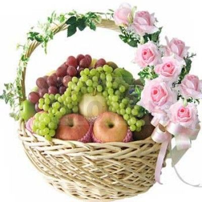 Seasonal Fruits Basket Delivery At Maya Flowers, India