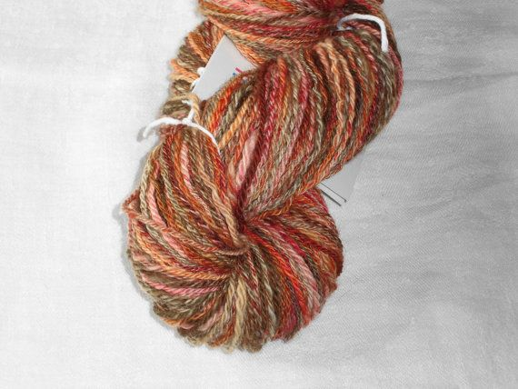 Luxury Handspun And Hand Dyed 3-ply Superwash Merino Fingerring Yarn - Red Lion