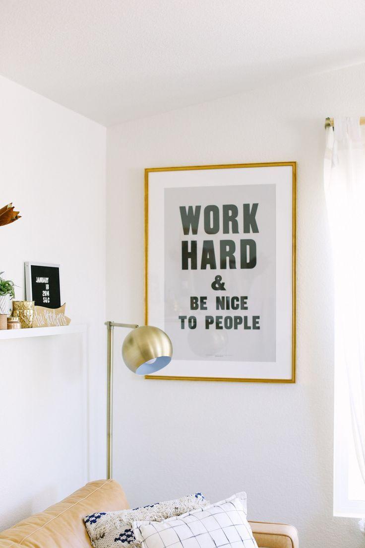 How To Style A Photo Ledge With Framebridge -- http://Chelsea-Bird.com