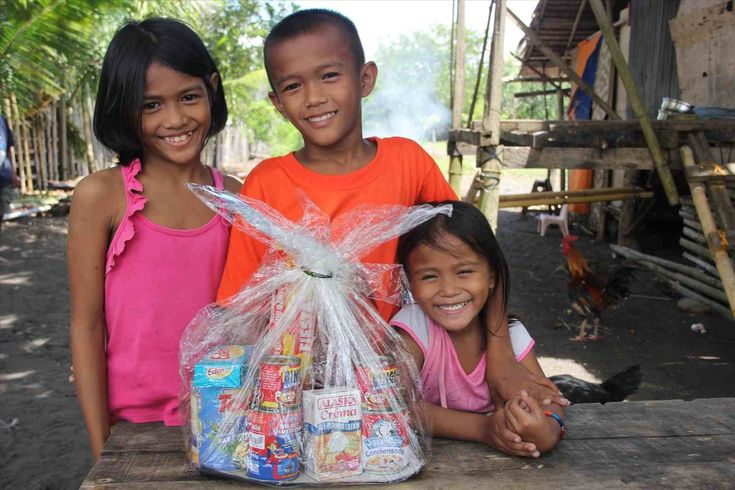 New Post poor children opening christmas presents