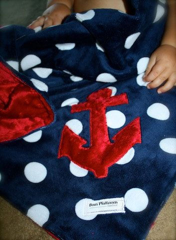 Nautical Minky Blanket Anchors Away Lovey by BornPlatinum on Etsy, $25.00