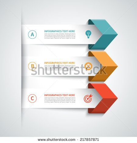 Modern arrow infographics elements. Origami style. Vector illustration. Can be used for workflow layout, diagram, number and step up options, web design. - Shutterstock Premier