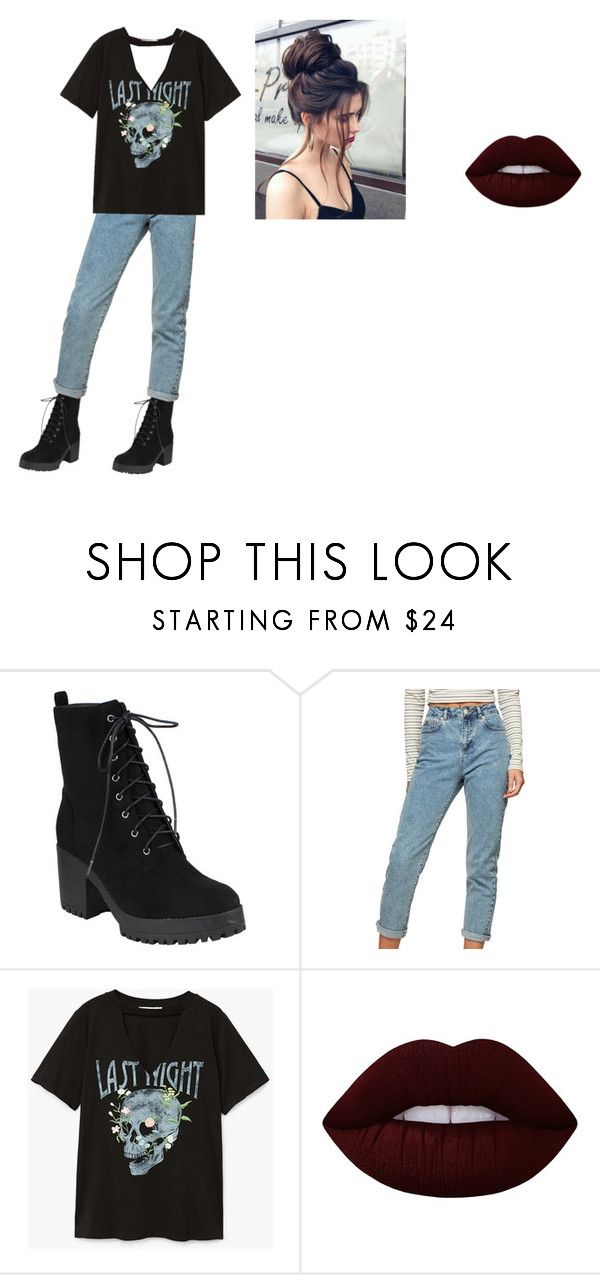 """""""New guy"""" by idatherese04 on Polyvore featuring beauty, Miss Selfridge, MANGO and Lime Crime"""