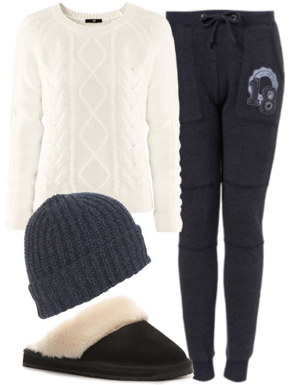 tumblr lazy day outfits | Eleanor Inspired for Lazy Day at HomeJumper / Sweats / Beanie ...