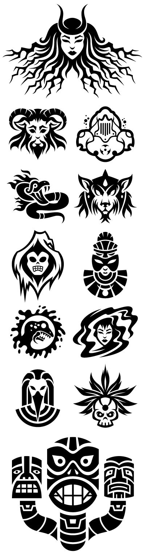 ART BACKWASH: Role Playing Game Icons