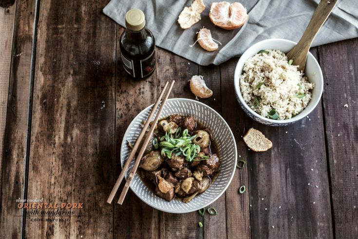 Slow Cooked Oriental Pork With Mandarins
