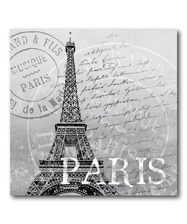 Take a look at this Black & White Paris Canvas Wall Art by COURTSIDE MARKET on #zulily today!