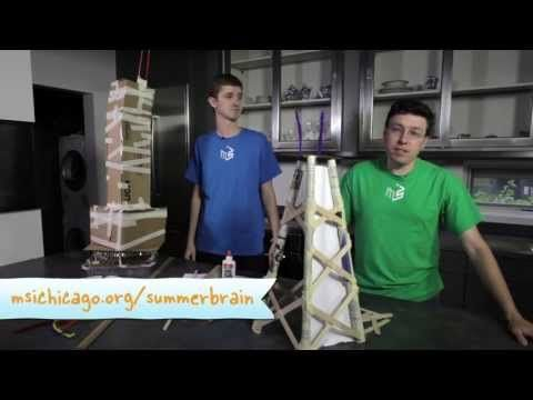 From the Museum of Science & Industry in Chicago. Build a skyscraper with household materials while applying simple engineering and building techniques. Summer Brain Games 2 -- Week 5: Super-Stable Structure Use with Apologia Chemistry and Physics, homeschool science