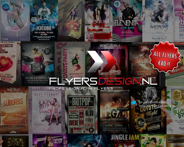 All Flyers for €80 / Ready within 24 hours / Mail your request to flyersdesign@live.nl