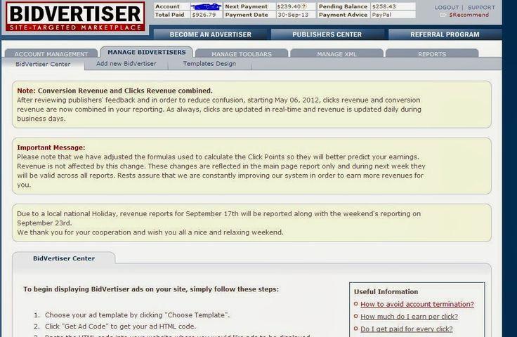 Bidvertiser Review & Payment Proof ~ Download Freeware
