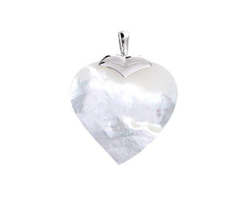 Szív alakú gyöngyház medál