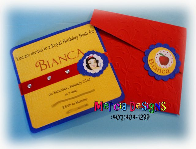 266 - Snow White Invitation by mercia designs, via Flickr