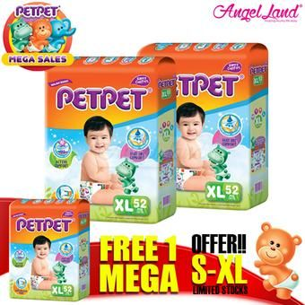 Buy [Mega Sales Deal~2FOC1] PETPET Tape Diaper Mega Packs XL52 (3packs) online at Lazada. Discount prices and promotional sale on all. Free Shipping.