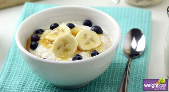 Cottage Cheese Oats with Honey Blueberries and Banana  Recipe