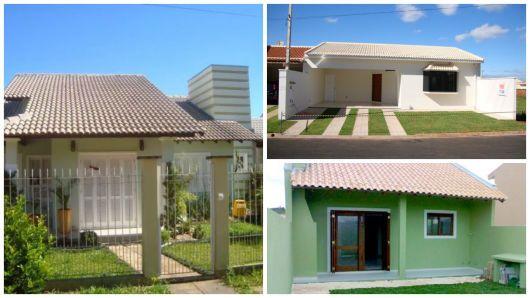 Modelo telhado aparente casa e jardim pinterest casas pequenas modelos de casas pequenas for Modelos de casas pequenas
