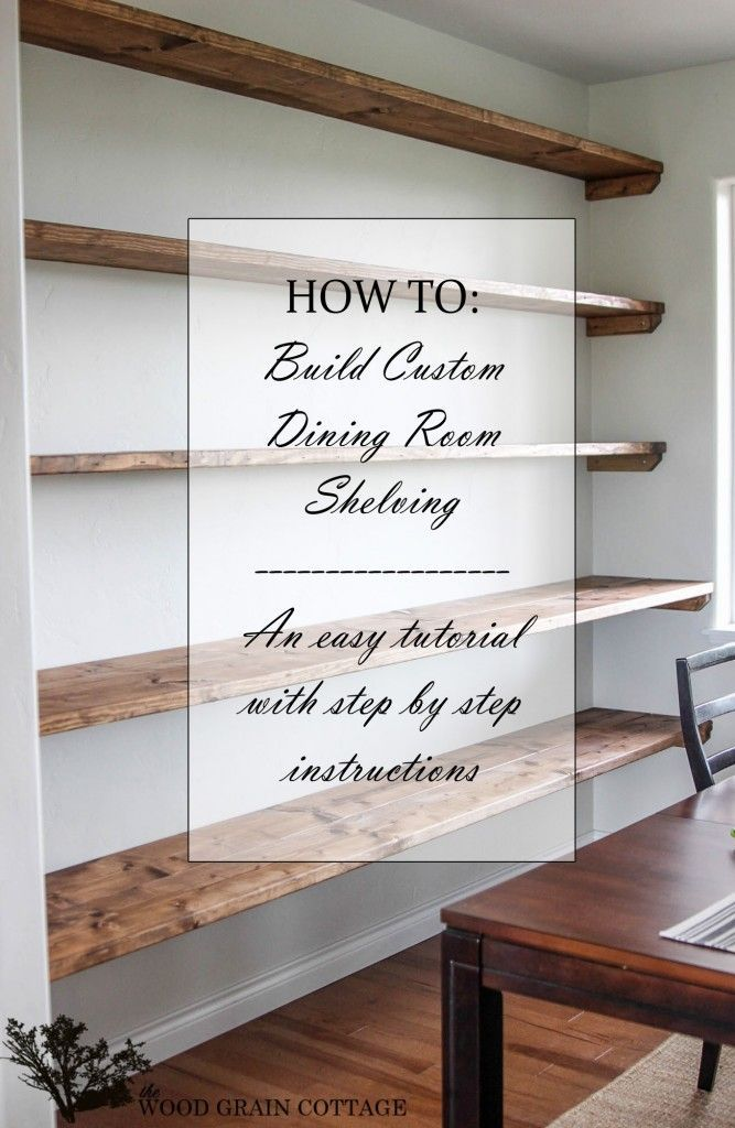 how to build a shelf into a wall 2