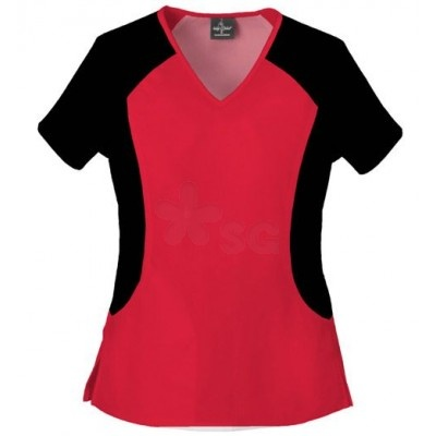 Baby Phat Livin' Stretch Top    Raglan knit sleeves and knit side panels provide the incredible Livin' Stretch of this V-neck top! Included are two hidden inseam pockets and side vents.