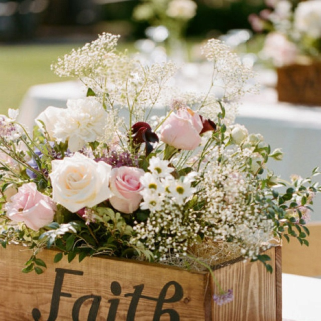 Love this idea for so many reasons. Simple,unique, beautiful... very versatile. Few changes in words and floral colors, this idea could be used for almost any type of event. Weddings, baby shower, holidays, or ? This is a keeper.