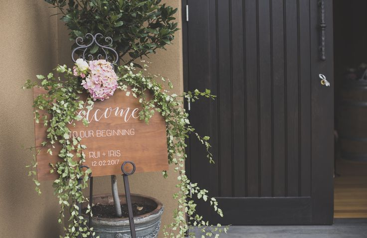 Welcome to our wedding   White Rabbit Productions   #vueonhalcyon #yarravalley #wedding