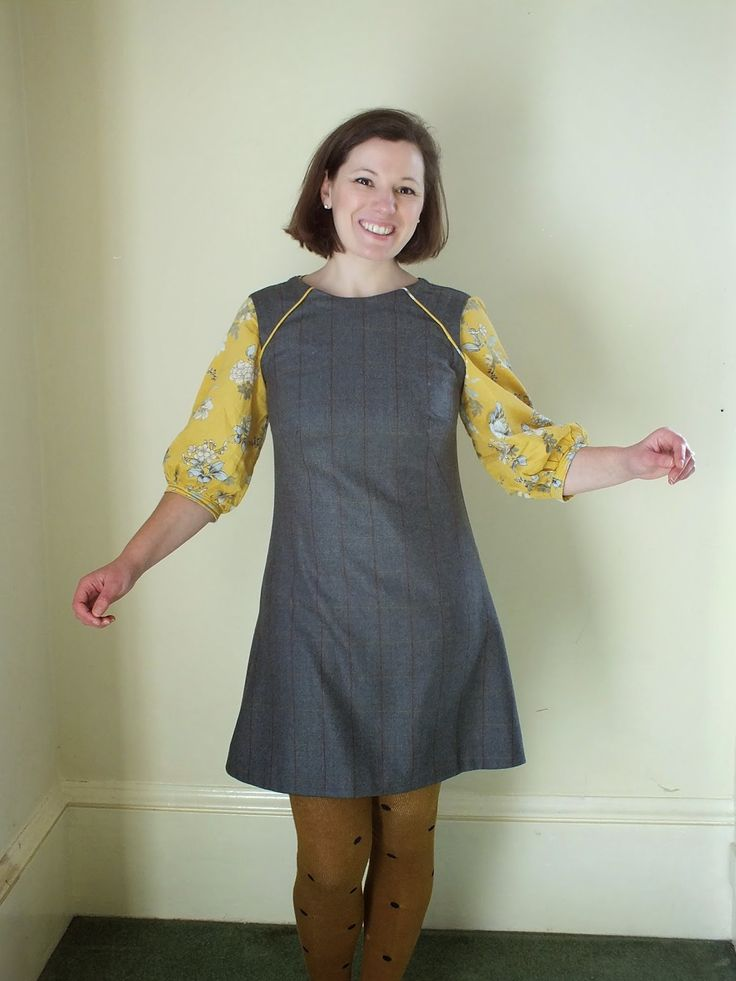 Jenna's Francoise dress worn with her Mathilde blouse!