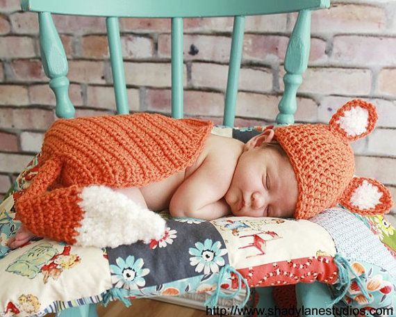 PATTERN Fox Photo Prop  Crochet Hat & Cape by SweetPotato3Patterns, $5.50