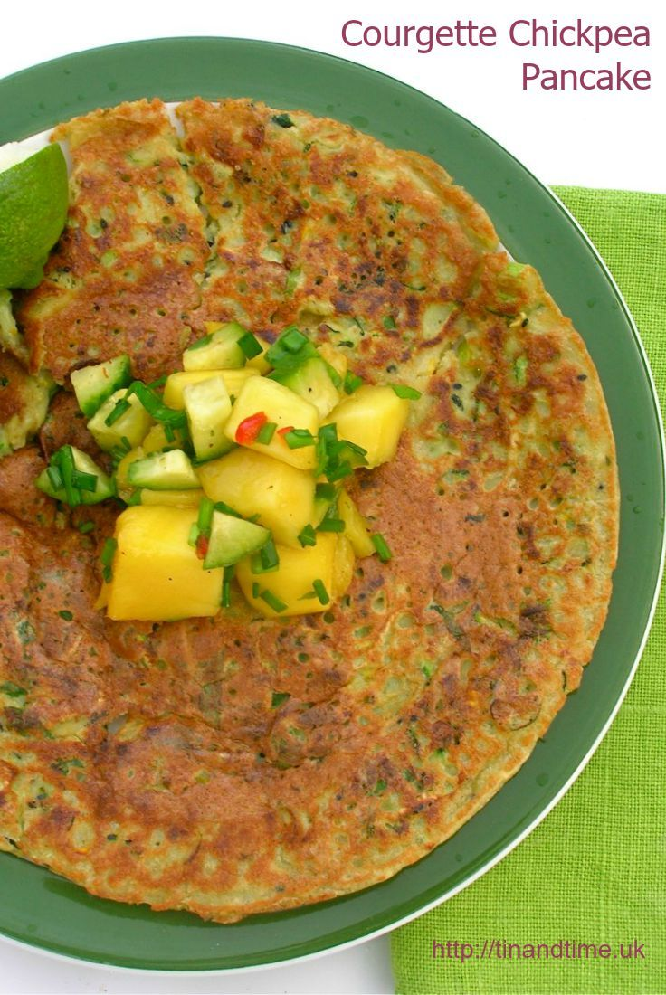Courgette (Zucchini) & Chickpea Flour Pancakes - served with a tangy ...