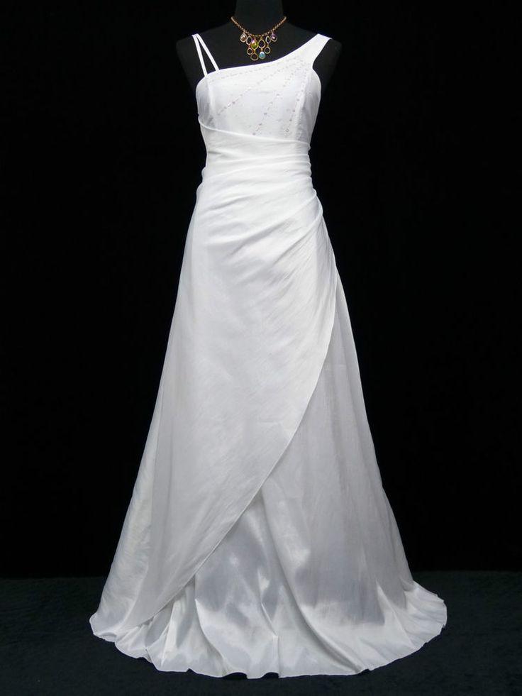 Cherlone Weiß Hochzeit/Abend Ballkleid Brautkleid Abendkleid Brautjungfer Kleid