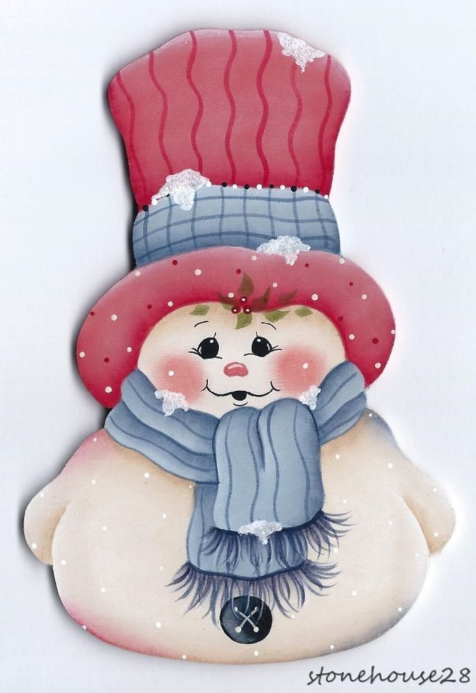HP SNOWMAN FRIDGE MAGNET