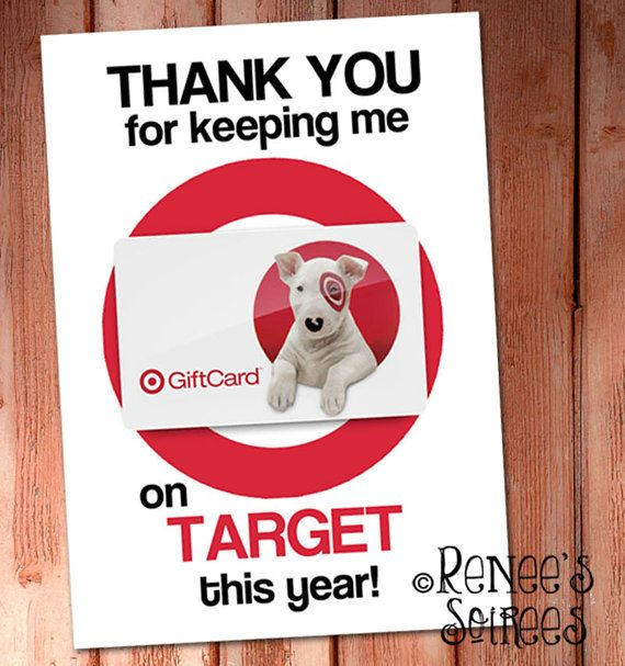 Printable Target GIFT CARD Holder ~ for Teacher Appreciation, Bosses Day, Administrative Assistant's Day, coworker, mentor gift, etc!