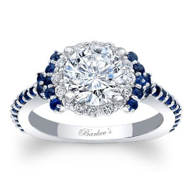 Blue sapphire engagement ring. #barkevs http://www.barkevs.com/engagement-rings/diamond-engagement-rings/blue-sapphire-engagement-ring-7979lbsw.html