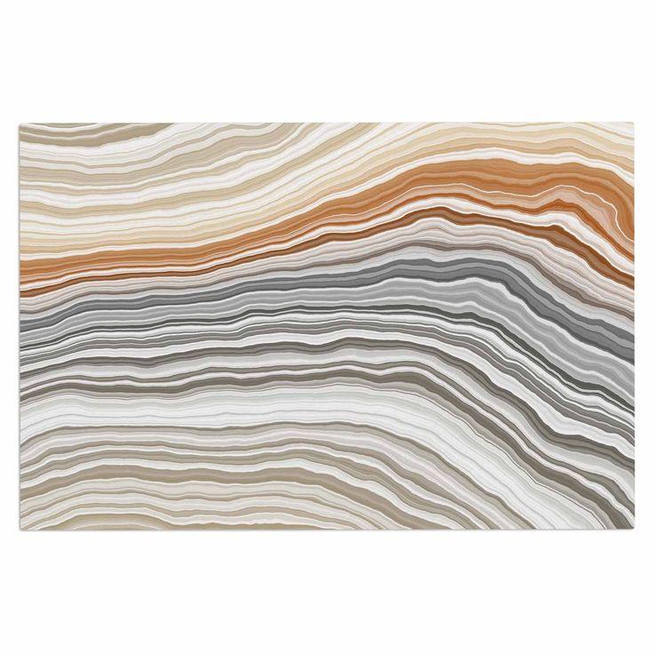 """KESS Original """"Vernal Pools"""" Beige Gray Decorative Door Mat"""