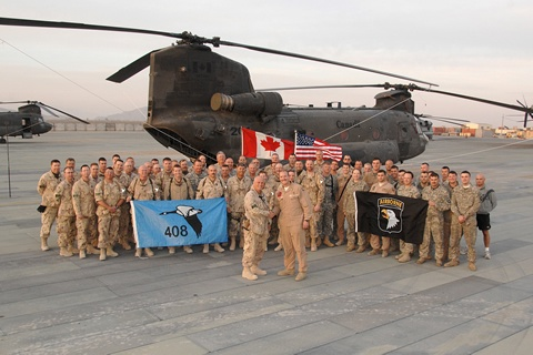 Canadian Forces with US Army 82nd Airborne
