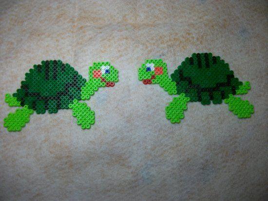 tortues en perles hama