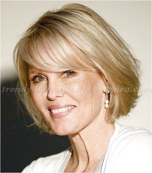 short hairstyles over 50, hairstyles over 60 - bob haircut with fringe click for more information..