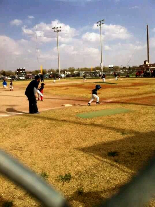 My love running, he did a good job 2nd game. 3/23/13