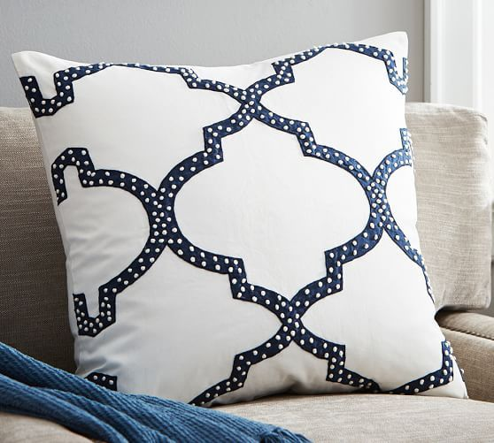 dearsley embroidered pillow cover pottery barn pillows u0026 throwsthrow