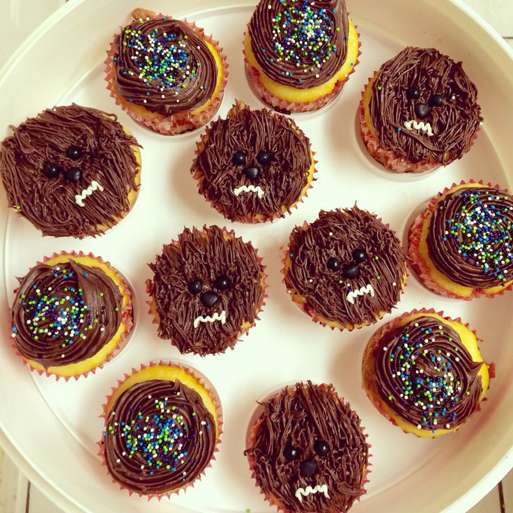 Chewbacca Chocolate Cupcakes