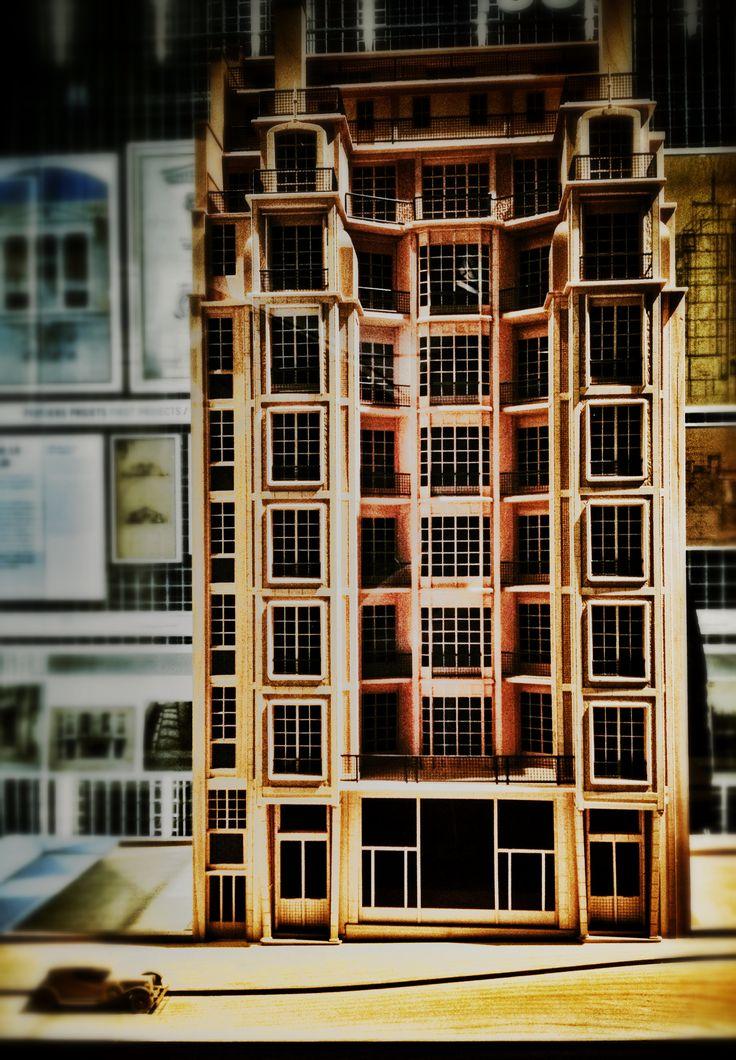 Maquette du 25 rue Benjamin Franklin à Paris (architecte : Auguste Perret).  Photo © Copyright Yves Philippe