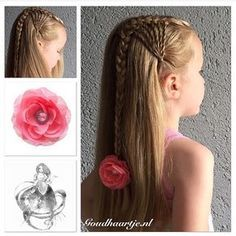"""""""Repost for the #backtoschoolhaircontest hold by the amazing talented @jehat This is a hairstyle I created, the #lacetwistsidebraid You can do the twists at one or two sides of your head. #lacebraid #hairstyle #braid #twistbraid #hairaccessories #hairflower #vlecht #haarstijl #haarbloem #haaraccessoires #goudhaartje #confessionscontest"""" Photo taken by @goudhaartje.nl on Instagram, pinned via the InstaPin iOS App! http://www.instapinapp.com (08/20/2015)"""