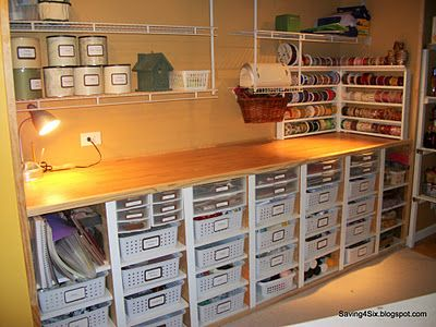 A reminder that crafty storage doesn't have to expensive to look awesome!