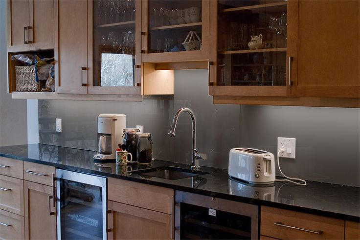 Back Painted Glass Backsplash Kitchen No Grout Easy Cleaning Easy Color Matching Condo