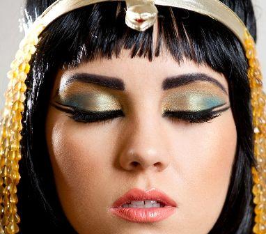 Cleopatra Eye Makeup Photos. Blue gold eyeshadow