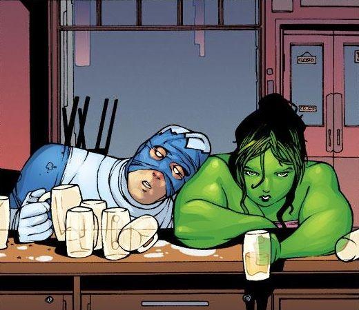 She-Hulk and Blizzard •Juan Bobillo