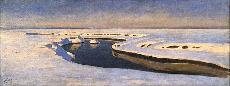Julian Fałat - Śnieg, 1907