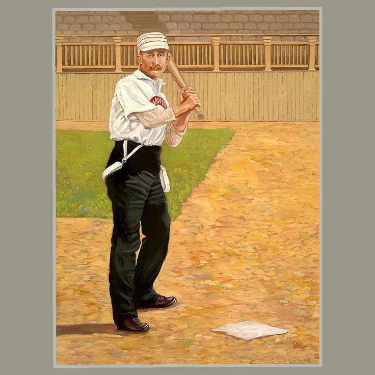 VANISHED FROM THE GAME Pant Suspenders - I dont think Ive ever seen a photo of any other 19th Century ballplayer wearing suspenders except for this guy so his may have been the only pair that vanished. Nevertheless it makes for a nice post.  Sam Thompson (played 1885-1898 and 1906) was the most outstanding run producer of the 19th century and ranked second to Roger Conner in career home runs before the 1920s when Babe Ruth revolutionized the hitting game. In 1887 Thompson hit .372 and…