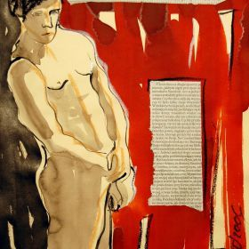 Standing Male Nude Collage