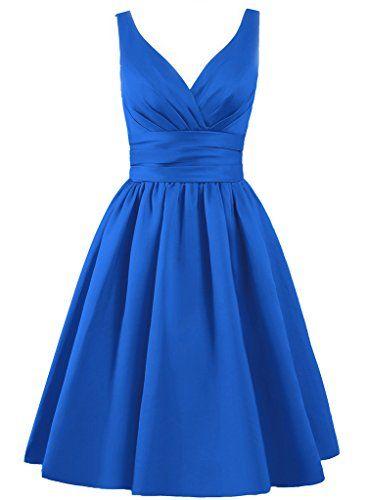EllaGowns Women's V-neck Short Bridesmaid Dresses Royal Blue US 2 EllaGowns http://www.amazon.com/dp/B010WYSKBO/ref=cm_sw_r_pi_dp_C2x0vb0T9VNXV