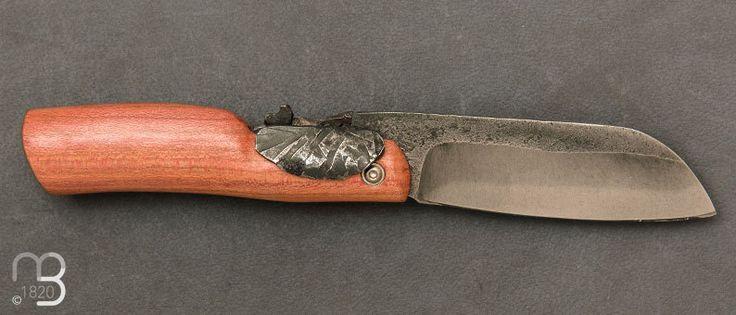 Couteaux Moing - Couteau de poche Piémontais en Prunier tête d'éléphant - Couteau de poche forgé . Livraison offerte à partir de 79€ d'achat - couteaux-berthier.com