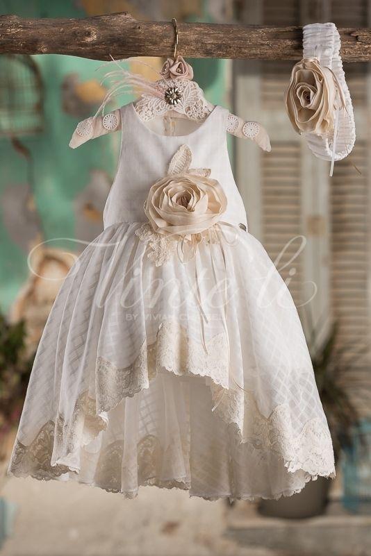 Βαπτιστικό 100 % βαμβακερό φόρεμα Vinte Li 2714 4a0fd9847f5